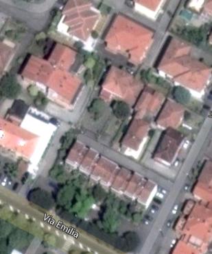 La zona di Via Fornace Gallotti, come la mostra oggi Google Maps